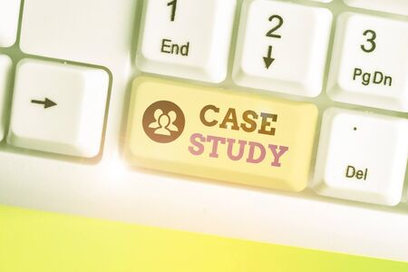 Text sign showing Case Study. Business photo text research methodology that has commonly used in social sciences