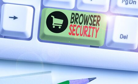 Conceptual hand writing showing Browser Security. Concept meaning security to web browsers in order to protect networked data