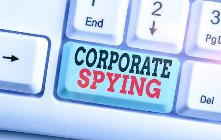 Text sign showing Corporate Spying. Business photo text investigating competitors to gain a business advantage