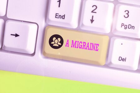 Text sign showing A Migraine. Business photo text recurrent throbbing headache that affects one side of the head Reklamní fotografie