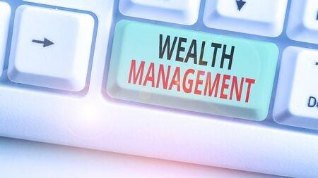 Writing note showing Wealth Management. Business concept for perforanalysisce tracking of the funds as per regular market