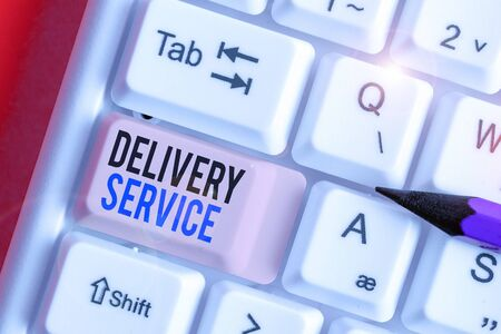 Conceptual hand writing showing Delivery Service. Concept meaning the act of providing a delivery services to customers Zdjęcie Seryjne
