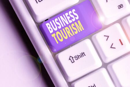 Word writing text Business Tourism. Business photo showcasing activity of leaving one s is native place for business purpose