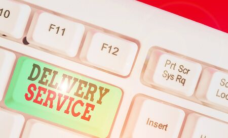 Word writing text Delivery Service. Business photo showcasing the act of providing a delivery services to customers