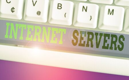 Word writing text Internet Servers. Business photo showcasing delivers the content of the page back to the user 版權商用圖片