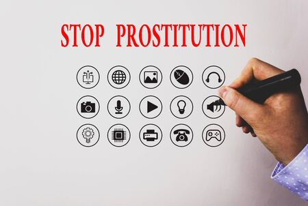 Text sign showing Stop Prostitution. Business photo text end the engaging sexual activity in exchange for payment