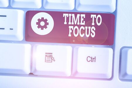 Text sign showing Time To Focus. Business photo showcasing Give full attention to something or activity Key to success
