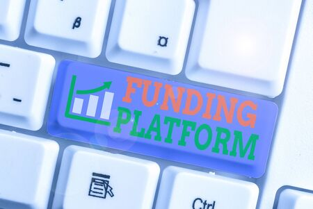 Word writing text Funding Platform. Business photo showcasing service that allows investments to be bought online Stock fotó