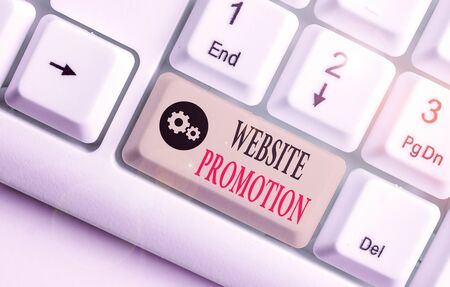Handwriting text Website Promotion. Conceptual photo increase exposure of a website to bring more visitors 版權商用圖片