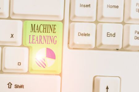 Text sign showing Machine Learning. Business photo showcasing scientific study of algorithms and statistical models