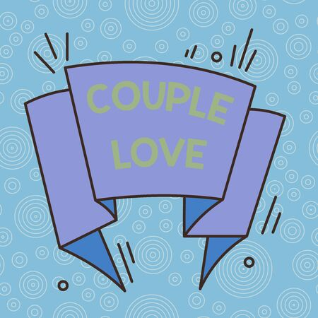 Handwriting text Couple Love. Conceptual photo two showing who love each other very much Feeling pleasure Asymmetrical uneven shaped format pattern object outline multicolour design