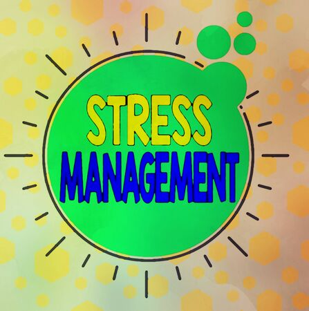Handwriting text writing Stress Management. Conceptual photo method of limiting stress and its effects by learning ways Asymmetrical uneven shaped format pattern object outline multicolour design