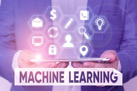 Word writing text Machine Learning. Business photo showcasing scientific study of algorithms and statistical models