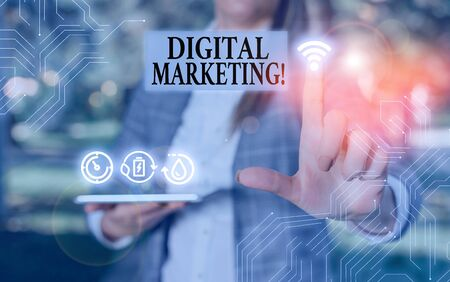 Handwriting text writing Digital Marketing. Conceptual photo market products or services using technologies on Internet 版權商用圖片