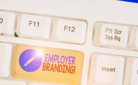 Handwriting text Employer Branding. Conceptual photo promoting company employer choice to desired target group