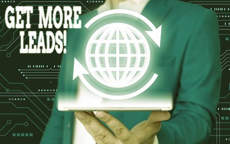 Text sign showing Get More Leads. Business photo text initiation consumer interest or enquiry products or services