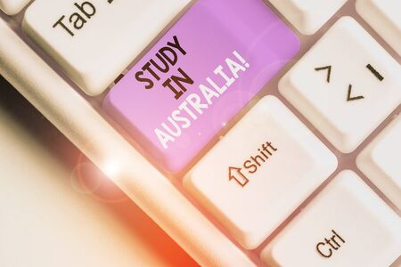 Text sign showing Study In Australia. Business photo text going into foreign country order complete your studies