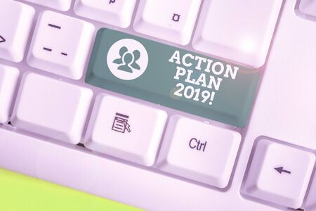 Word writing text Action Plan 2019. Business photo showcasing proposed strategy or course of actions for current year Reklamní fotografie