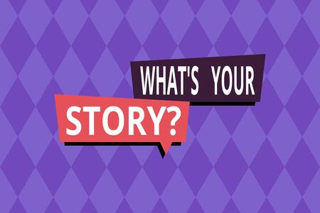 Word writing text What S Your Story Question. Business photo showcasing asking demonstrating about his past life actions events Repeating geometrical rhombus pattern. Seamless abstract design. Wallpaper