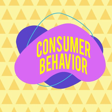 Writing note showing Consumer Behavior. Business concept for study of how individual customers interacts with the brand Asymmetrical format pattern object outline multicolor design