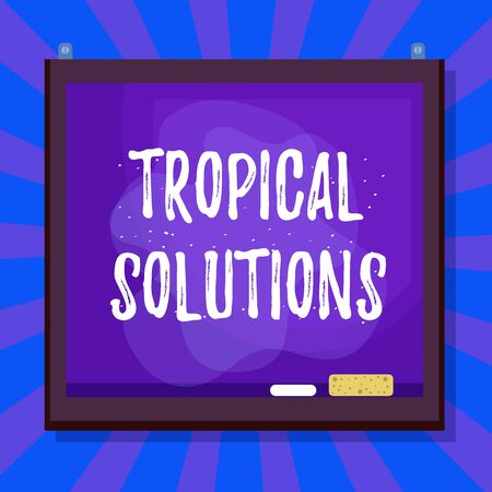 Word writing text Tropical Solutions. Business photo showcasing immediately easily ready to use upon implementation Asymmetrical uneven shaped format pattern object outline multicolour design