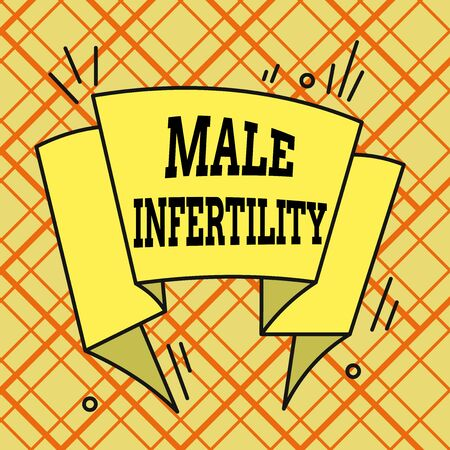 Writing note showing Male Infertility. Business concept for the inability to cause pregnancy in a fertile Asymmetrical uneven shaped pattern object multicolour design