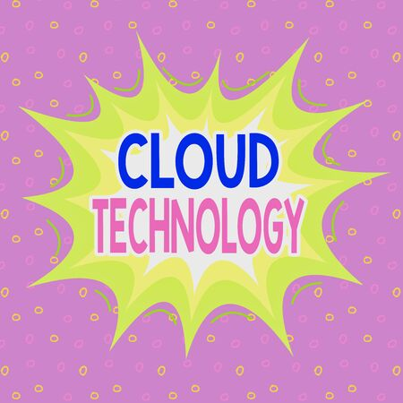 Handwriting text writing Cloud Technology. Conceptual photo on deanalysisd availability of computer system resources Asymmetrical uneven shaped format pattern object outline multicolour design Фото со стока