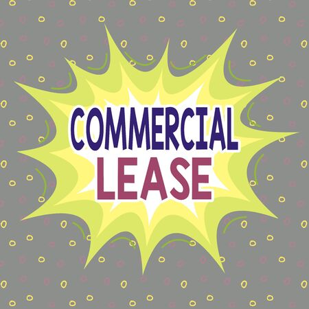 Handwriting text writing Commercial Lease. Conceptual photo contract between a landlord and a business property tenants Asymmetrical uneven shaped format pattern object outline multicolour design