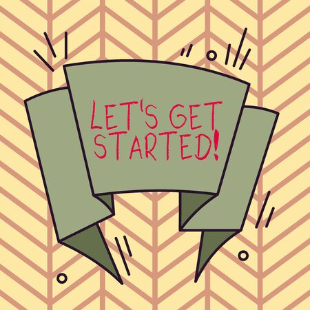 Handwriting text writing Let S Get Started. Conceptual photo encouraging someone to begin doing something Asymmetrical uneven shaped format pattern object outline multicolour design