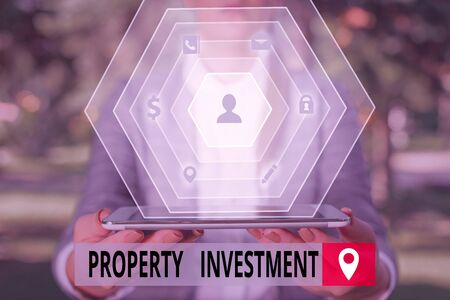 Word writing text Property Investment. Business photo showcasing Asset purchased and held primarily for its future income