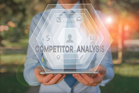 Handwriting text writing Competitor Analysis. Conceptual photo assessment of the strengths and weaknesses of rival firm