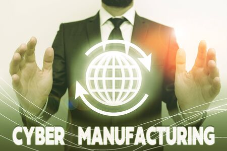 Text sign showing Cyber Manufacturing. Business photo text transformative concept that aims the translation of data