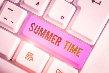 Word writing text Summer Time. Business photo showcasing warmest season of the year Summer season or period like summer