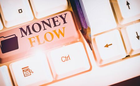Word writing text Money Flow. Business photo showcasing the increase or decrease in the amount of money a business 版權商用圖片 - 136598257