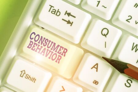 Text sign showing Consumer Behavior. Business photo showcasing study of how individual customers interacts with the brand