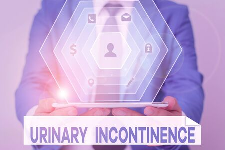 Word writing text Urinary Incontinence. Business photo showcasing uncontrolled leakage of urine Loss of bladder control
