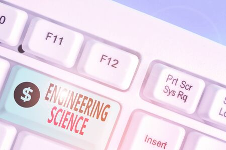 Word writing text Engineering Science. Business photo showcasing deal with physical and mathematical basis of engineering