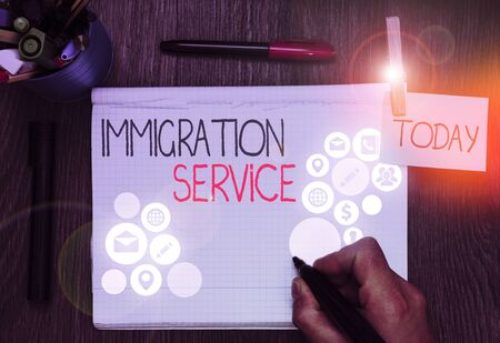 Handwriting text Immigration Service. Conceptual photo responsible for law regarding immigrants and immigration Reklamní fotografie