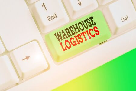 Conceptual hand writing showing Warehouse Logistics. Concept meaning flow of both physical goods and information in business