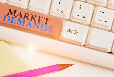 Conceptual hand writing showing Market Deanalysisds. Concept meaning Gather facts about situations that affect marketplace