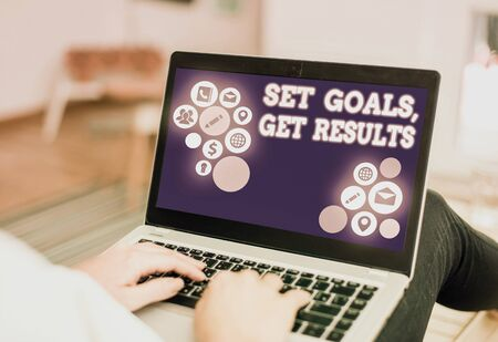 Handwriting text writing Set Goals, Get Results. Conceptual photo Establish objectives work for accomplish them