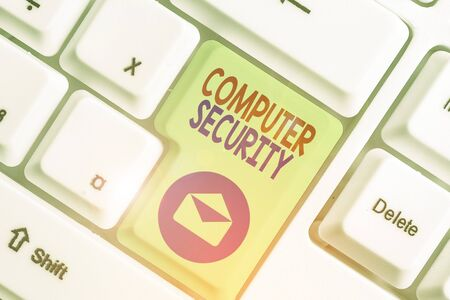 Handwriting text Computer Security. Conceptual photo protection of computer systems from theft or damage 版權商用圖片