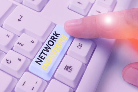 Writing note showing Network Engineering. Business concept for field concerned with internetworking service requirement