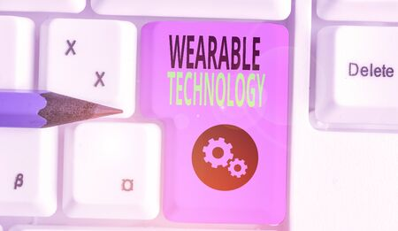 Handwriting text writing Wearable Technology. Conceptual photo electronic devices that can be worn as accessories