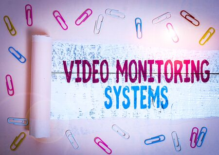 Handwriting text Video Monitoring Systems. Conceptual photo Surveillance Transmit capture Image to Digital Link