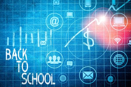 Text sign showing Back To School. Business photo text New Teachers Friends Books Uniforms Promotion Tuition Fee