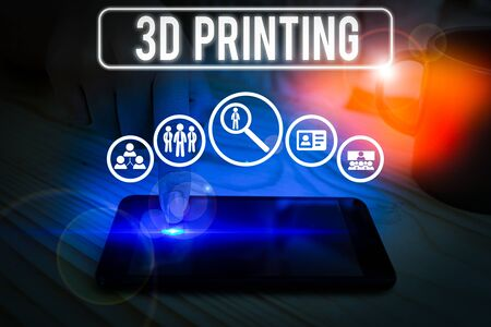 Word writing text 3D Printing. Business photo showcasing making a physical object from a threedimensional digital model Stock Photo