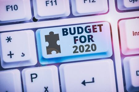Writing note showing Budget For 2020. Business concept for An written estimates of income and expenditure for 2020