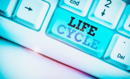 Word writing text Life Cycle. Business photo showcasing the series of changes in the life of an organism and animals 写真素材