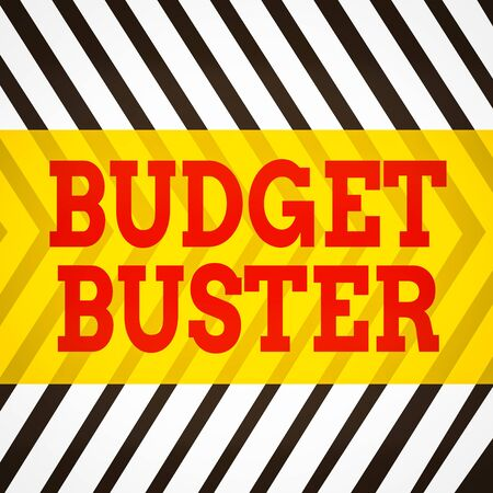 Word writing text Budget Buster. Business photo showcasing Carefree Spending Bargains Unnecessary Purchases Overspending Seamless Vertical Black Lines on White Surface in Mirror Image Reflection